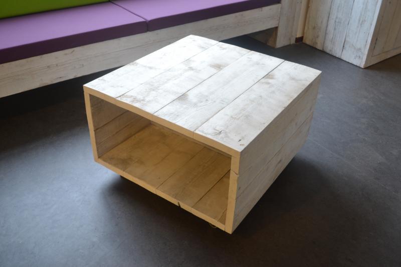 Hout het stijlvol salontafel op wieltjes for Witte eetkamerstoelen op wieltjes